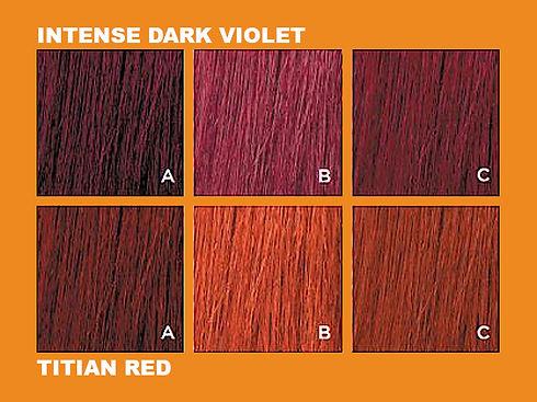 framesi morphosis sun intense dark violet titian red fading uv results