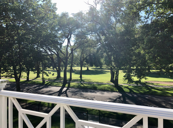 Samantha balcony views of golf course