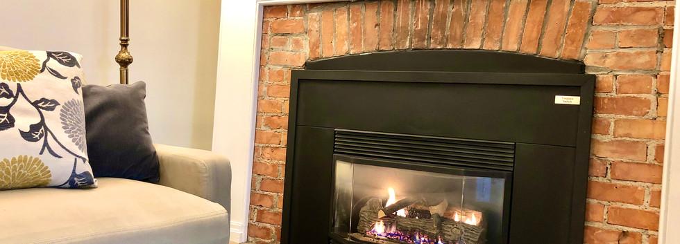 Olivia Suite fireplace