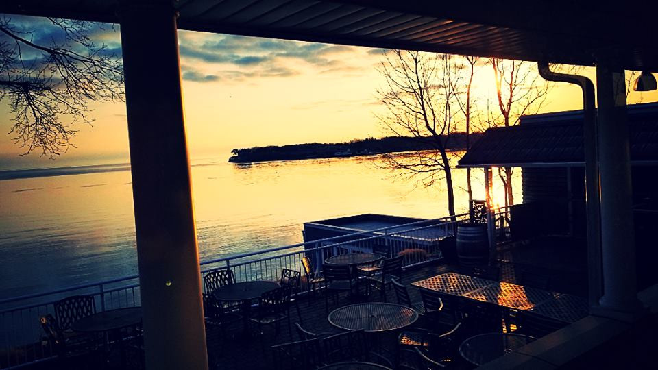 Lake views from restaurant patio