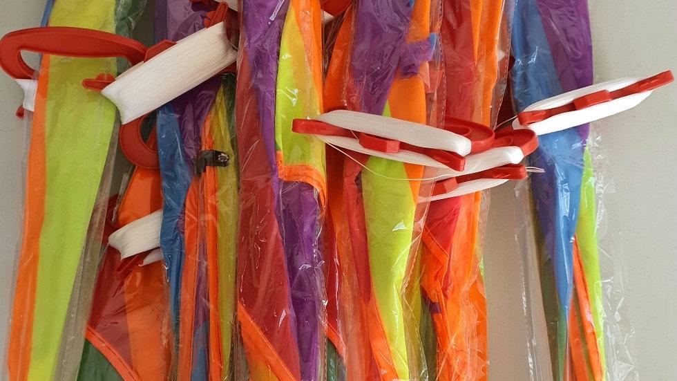 10 X Budget kites with line