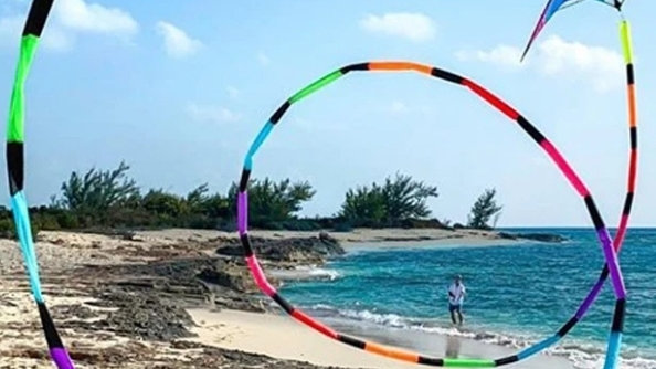 75` Prism Rainbow Tube Tail (Kite Not Included)