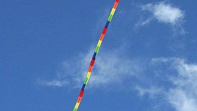 10mtr rainbow kite tail