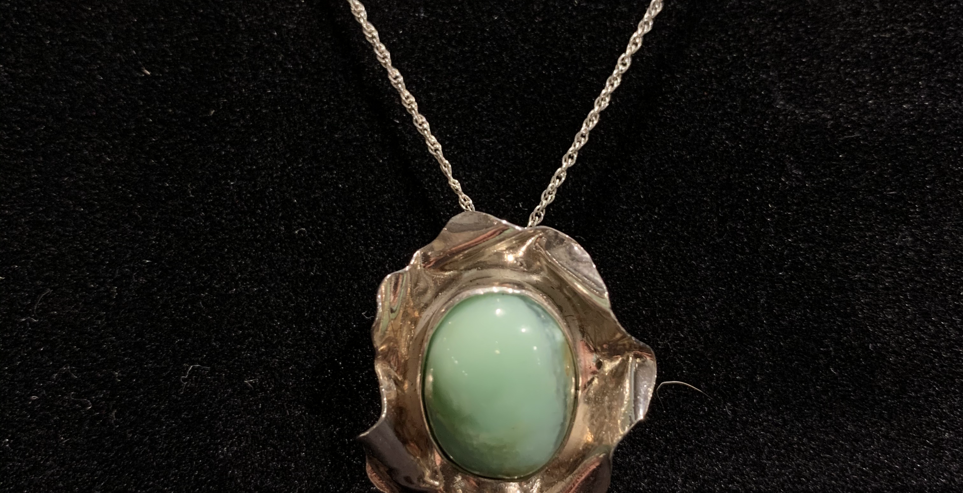 Mint Bloom Necklace $50