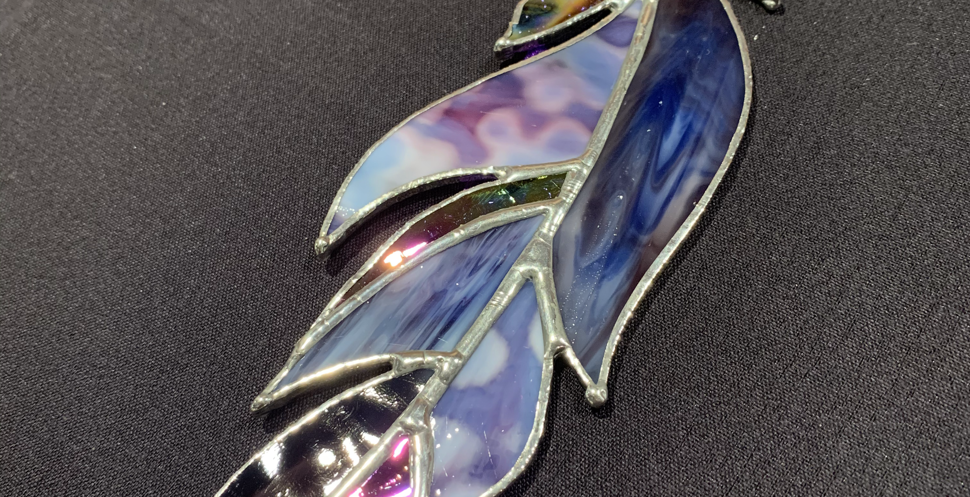 Stained Glass Feather (Purple) $26