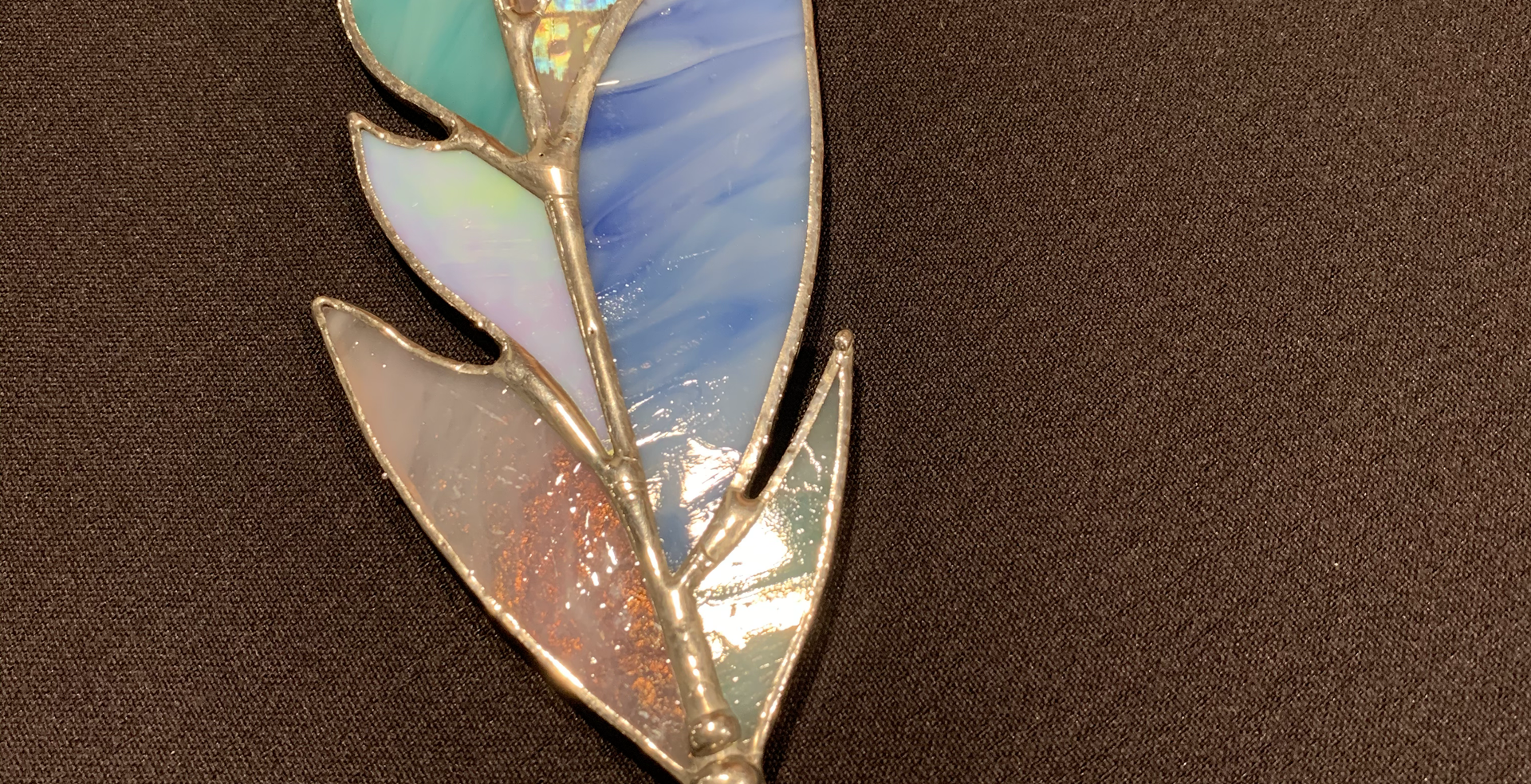 Stained Glass Feather (Multi) $26