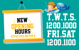 We are closer and closer to GRAND open. before that, new opening hours updated.