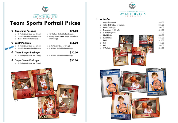Team Sports Portrait Package