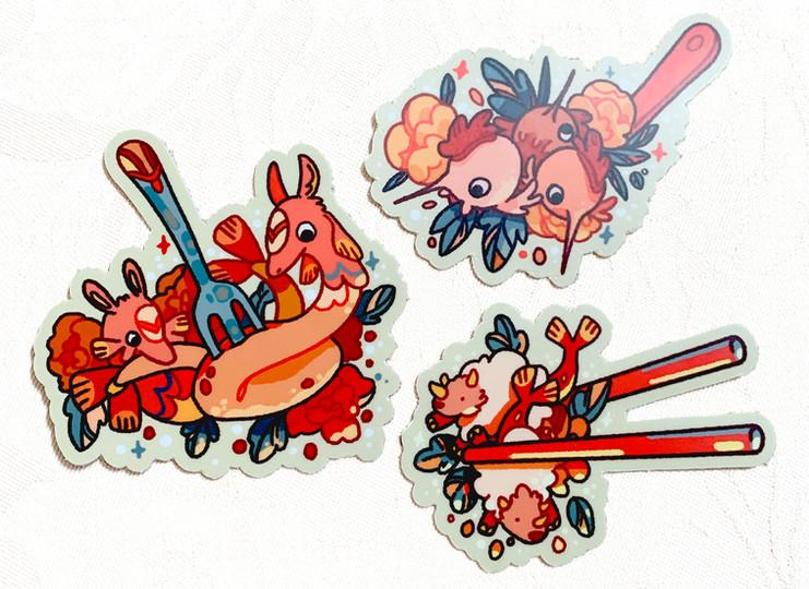 Dinnertime Monster Stickers