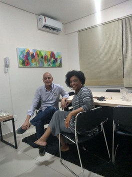 Elizete em mentoria com o Professor e Mediador Adolfo Braga Neto.