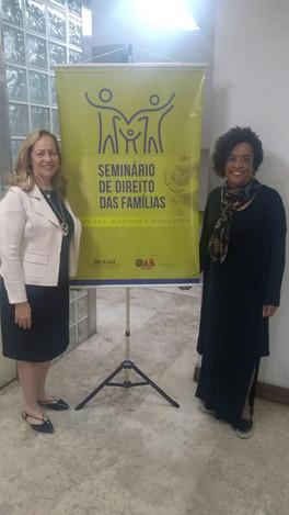 Participação das sócias-diretoras da  DWE, Wânia Ferrari e Elizete Carvalho, no Seminário de Direito das Famílias - Belo Horizonte - OAB/MG.
