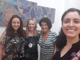 Visita à DWE das sócias da Advocacia de Marca, Janaína e Lívia.