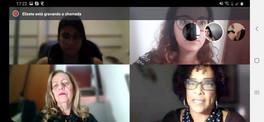 Reunião virtual com parceiros