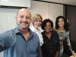 Em Brasília, as sócias Débora, Wânia e Elizete, dedicaram-se à mentoria realizada por Marcelo Girade e Ana Valéria, que são mediadores e professores referências no Brasil.
