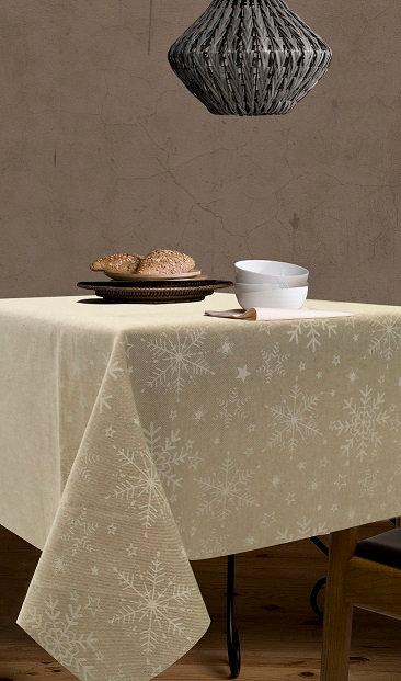 Tischtuch / Set / Läufer Meribel beschichtet, Stoffbreite 150 cm