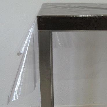 Glasklarfolie Uni uneingefasst, Stoffbreite 140 cm