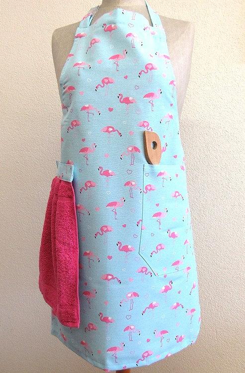 Küchenschurz mit abnehmbarem Handtuch Flamingo