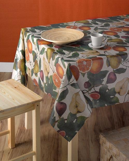Tischtuch / Set / Läufer Frutas beschichtet, Stoffbreite 150 cm