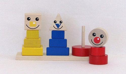 Happy Clown aus Holz