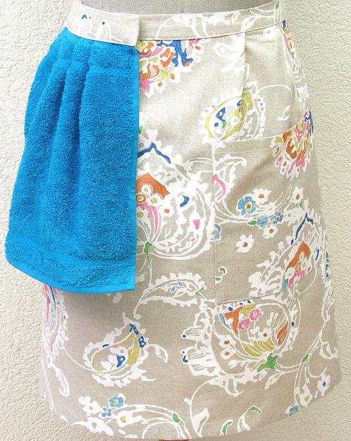 Halbschurz mit abnehmbarem Handtuch