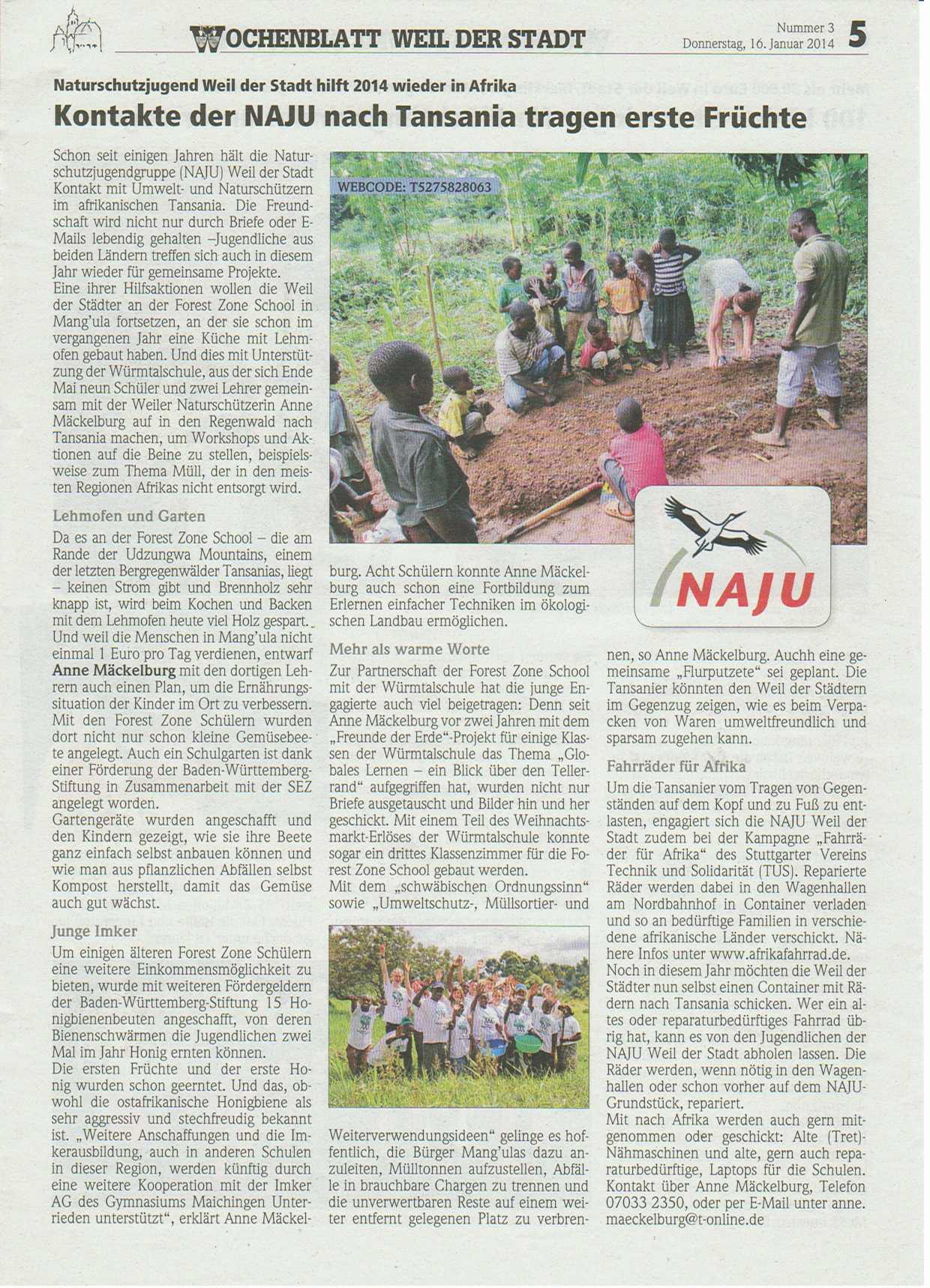 Wochenblattbericht