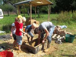 Kinderferienprogramm Lehmofenbau