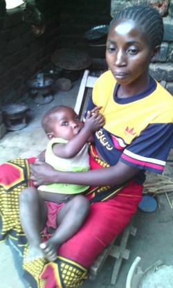 eine Mutter des Mutter Kind Projekts