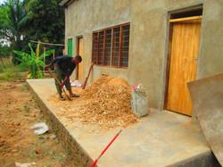 Robert preparing the chicken house