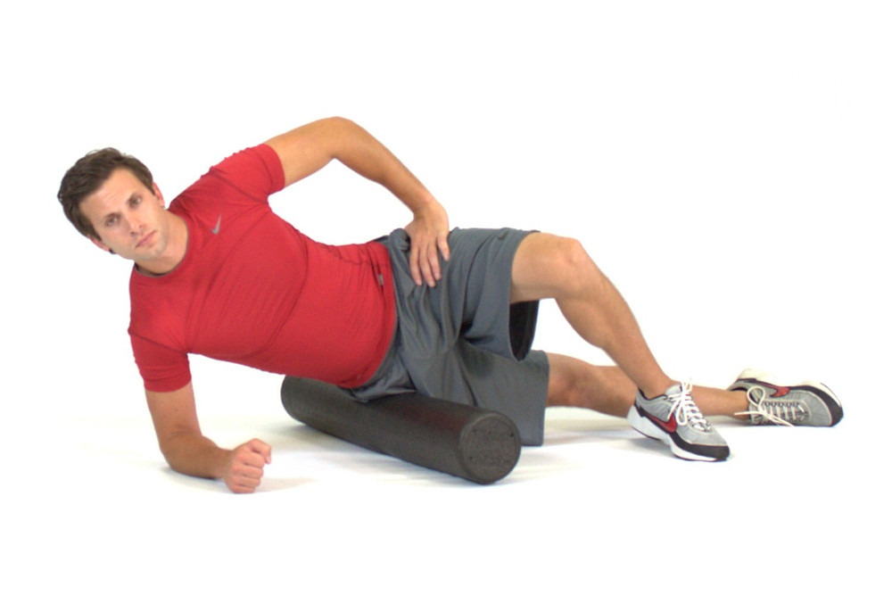 Foam rolling the IT band