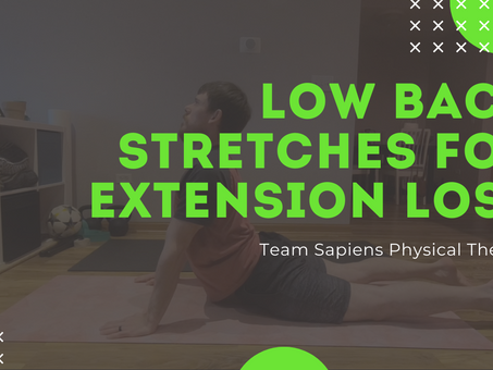 Low back extension stretches