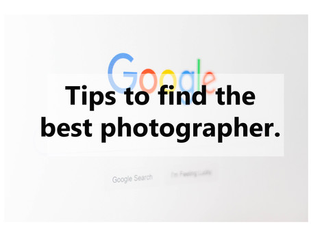 Finding the Photographer who is best for you.