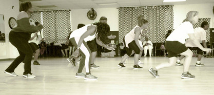 Line Dance Students