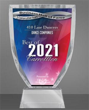 410 Line Dancers Receives 2021 Best of Carrollton Award