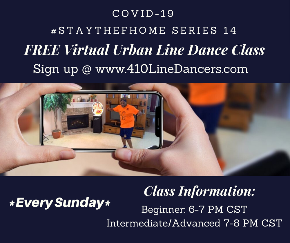 #StayTheFHome Urban Line Dance Series Sundays