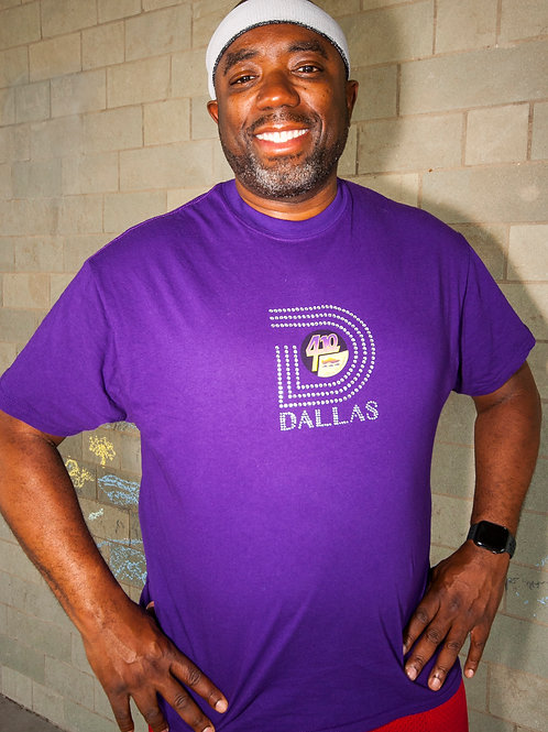 "Purple ""D"" Dallas Bling T-Shirt"