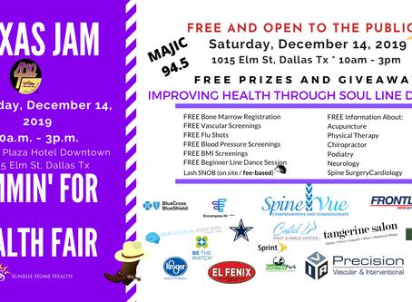 Texas Jam Health Fair - Jamming with Health