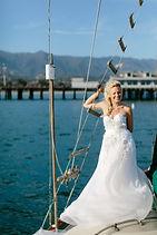 oceanside bride,oceanside wedding,wedding hairstyle,wedding photoshoot,wedding santa barbara,wedding dress,wedding by the ocean,wedding on a boat,bridal makeup,wedding at the pier,bridal braid,santa barbara maritime museum,sweetheart wedding dress