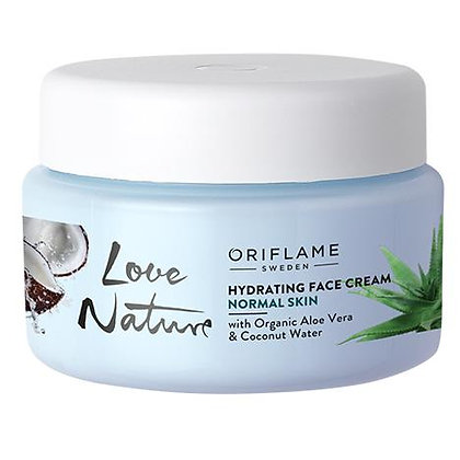 Hydrating Face Cream with Organic Aloe Vera & Coconut Water