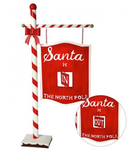 Santa's In/Out Floor Sign