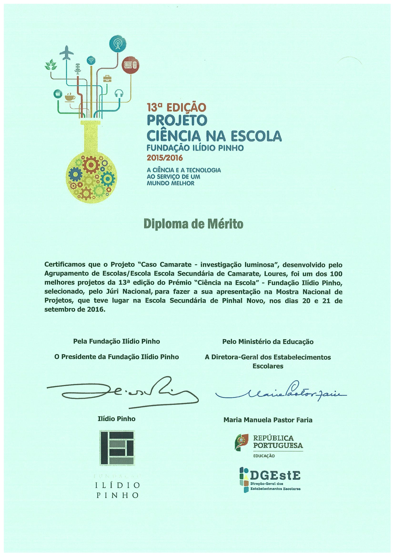 diploma fundação Ilídio Pinho