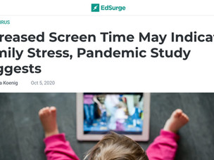 Increased Screen Time May Indicate Family Distress