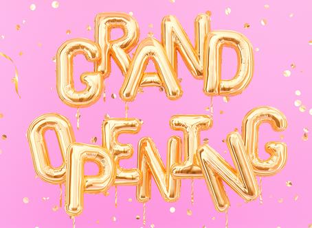 Grand Opening und willkommen auf unserer neuen Website!