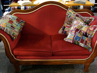 Unser rotes Nordberg-Sofa