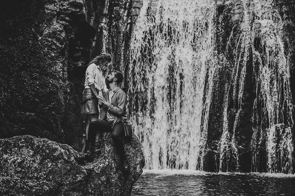 My love under waterfall