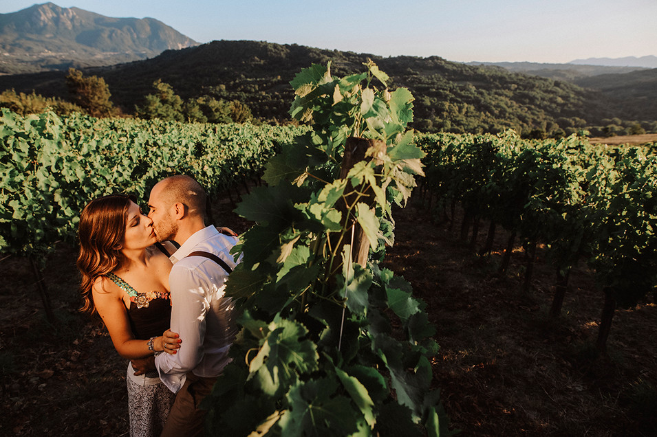 kiss in the wine factory