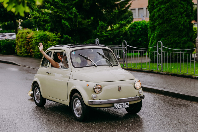 A wedding with fiat 500