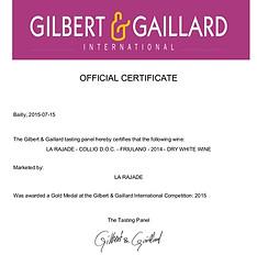 Friulano 2014 - Gilbert & Gaillard