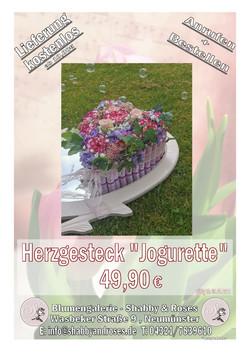 """Herzgesteck """"Jogurette"""""""