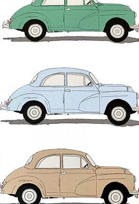 Morris Minor (3 Cars)