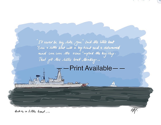 """""""Even a little boat"""""""